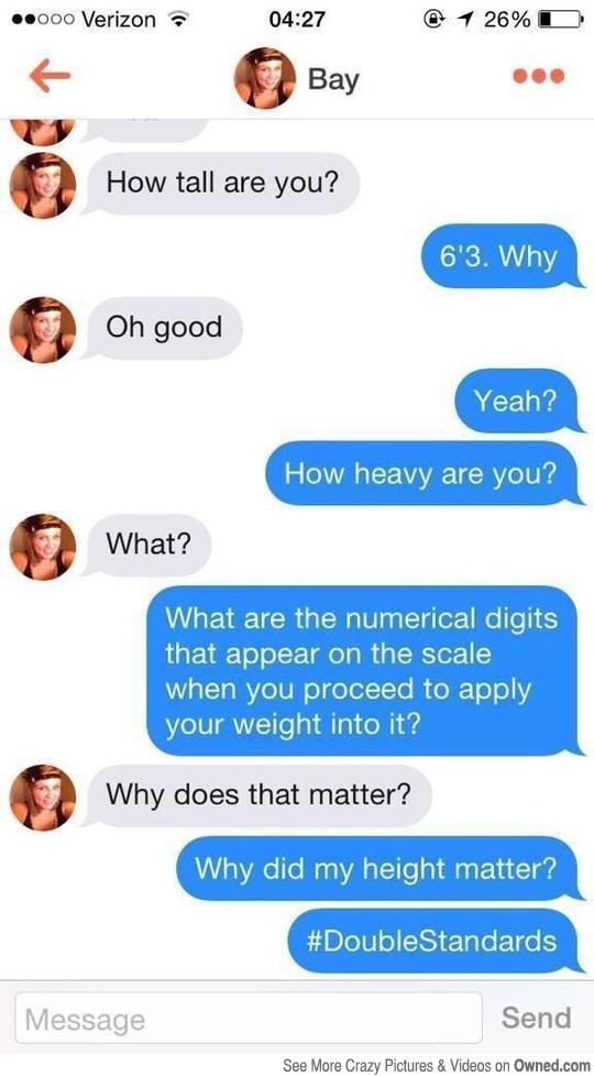 Online dating double standards men
